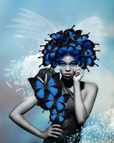 Butterfly composition Photoshop par Céline Delay